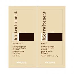 Brelil Bio Traitement Repair šampon+maska cestovní balení pro poškozené vlasy 2x15ml - zvìtšit obrázek