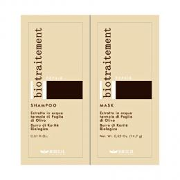 Brelil Bio Traitement Repair �ampon+maska cestovn� balen� pro po�kozen� vlasy 2x15ml