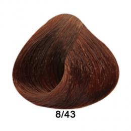 Brelil Prestige barva na vlasy 8/43 Svìtlá blond mìdìná zlatá 100ml - zvìtšit obrázek