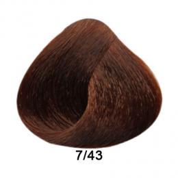 Brelil Prestige barva na vlasy 7/43 Blond mìdìná zlatá 100ml - zvìtšit obrázek