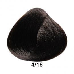 Brelil Prestige barva na vlasy 4/18 Ka�tanov� choco ice 100ml