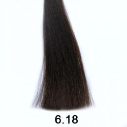 Brelil Shine bezèpavková olejová barva na vlasy 6.18 Ledovì èokoládová tmavá blond 60ml - zvìtšit obrázek