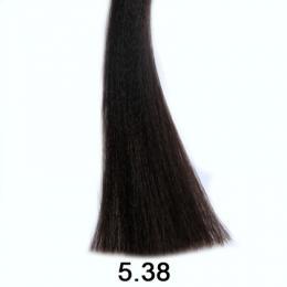Brelil Shine bez�pavkov� olejov� barva na vlasy 5.38 Sv�tl� ka�tanov� zlatav� �okol�dov� 60ml