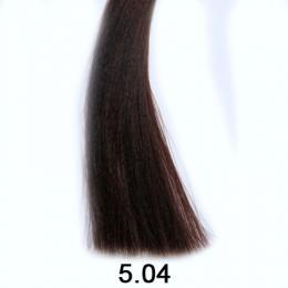 Brelil Shine bez�pavkov� olejov� barva na vlasy 5.04 P��rodn� sv�tl� ka�tan m�d�n� 60ml