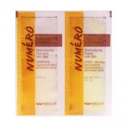 Brelil Numéro Avena restrukturaèní šampon + maska s výtažky z ovesných vloèek cestovní balení 2x15ml