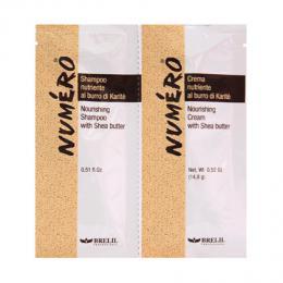 Brelil Numero Karité šampon+maska cestovní balení pro suché vlasy 2x15ml