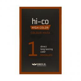 Brelil tónovací jednorázová maska HI-CO 1 - èokoláda 30ml