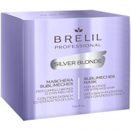 Brelil Silver blond – maska na blond, melírované a šedivé vlasy 220ml - zvìtšit obrázek