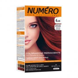 Brelil Numéro barva na vlasy 6.66 Tmavá blond intenzivnì èervená 75ml + 50ml