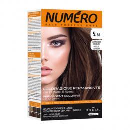 Brelil Numéro barva na vlasy 5.38 Svìtle kaštanová èokoládová 75ml + 50ml